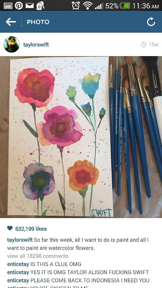 Reasons to LOVE Taylor Swift: she paints.