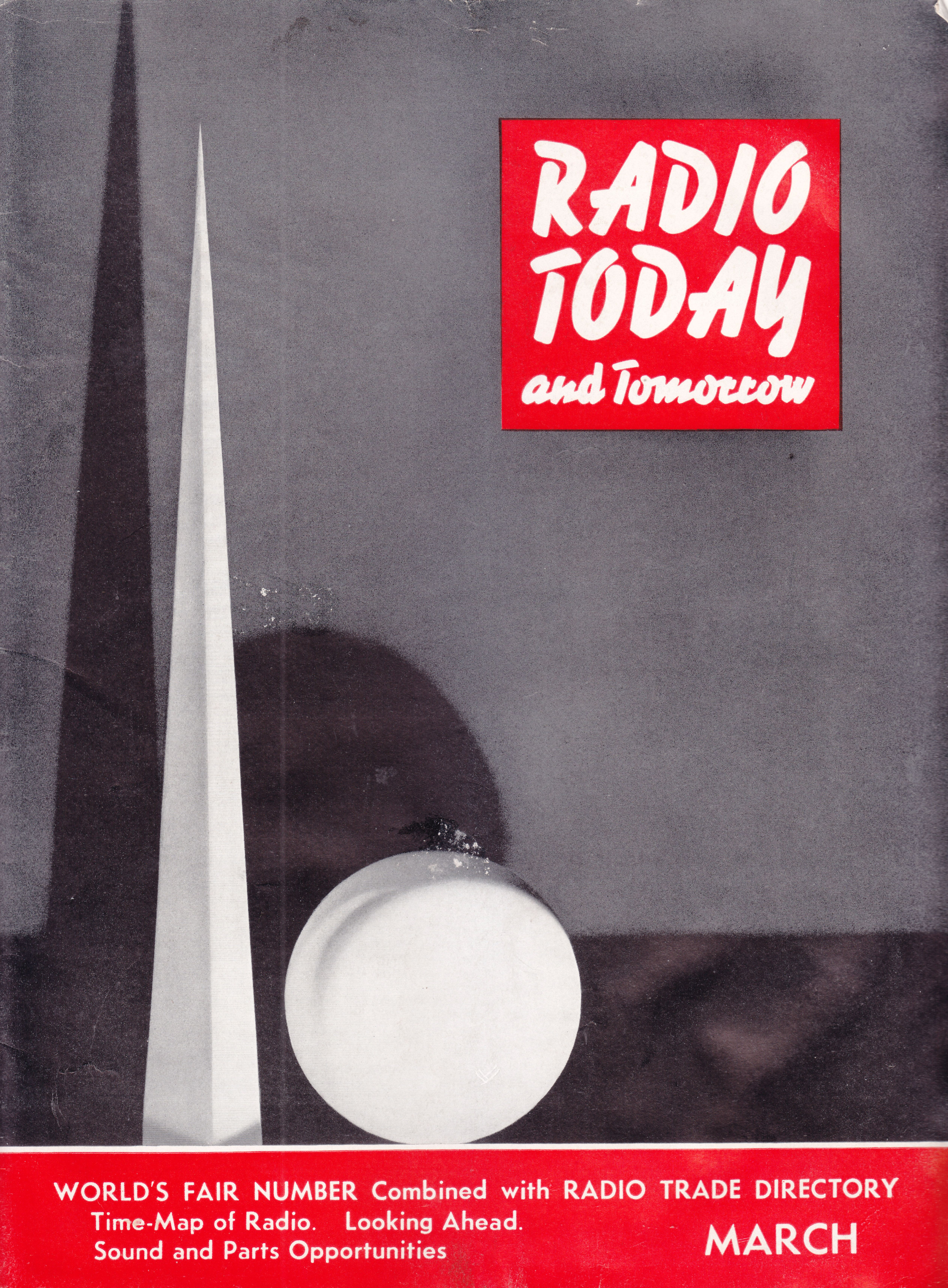 1939 New York World's Fair Radio Today magazine | 1939 world's Fair