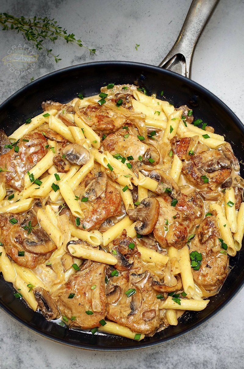 Pork Tenderloin In Creamy Mushroom Sauce And Pasta Dinner Recipe In 2020 Pork Casserole Pork Pasta Pork Recipes For Dinner