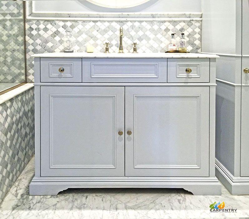 Victorian Style Vanity Unit With Marble Top Sink And Drawers Earl S Court London Sink Vanity Unit Vanity Units Vanity Sink