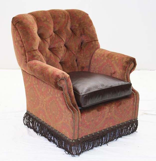 Best Fabric And Leather Chair Western Accent Chairs Cognac 400 x 300