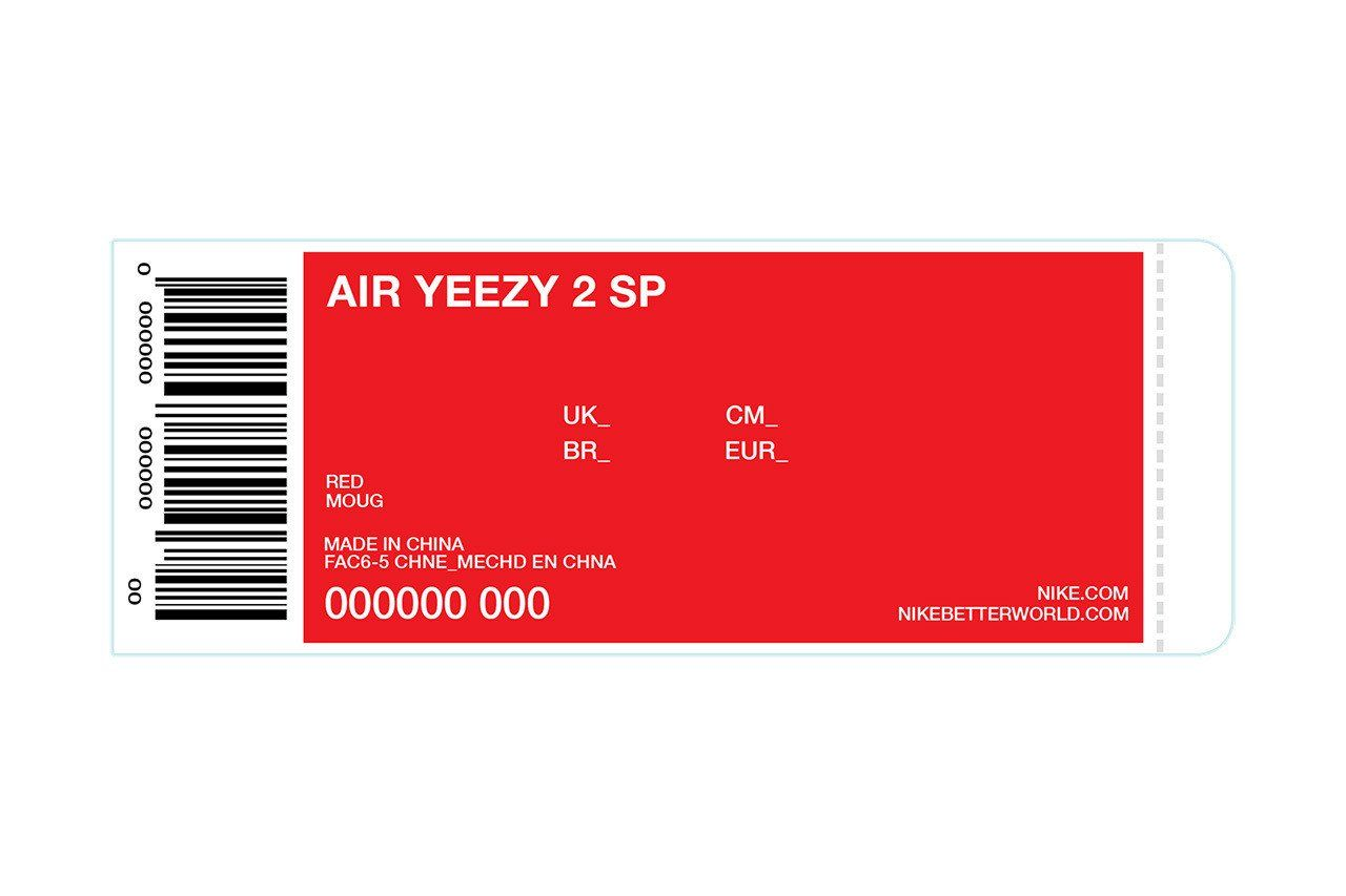 Nike Box Label Template Kanye Giving Away 50 Pairs Of Up Ing Red Nike Air Yeezy Iis In 2020 Label Templates Yeezy Red Nike