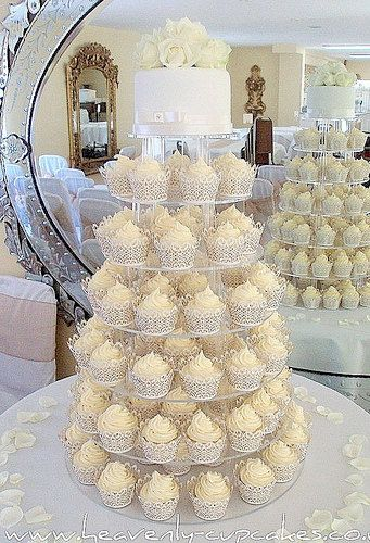 White / Ivory Cream IVY VINE Lace Cupcake Wrappers /LUXE Wedding ...
