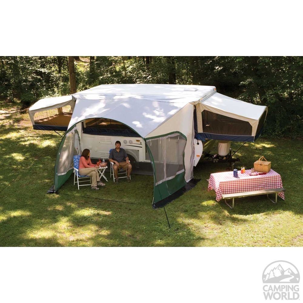 Dometic Cabana Awning For Pop Ups 11 Dometic 747grn11 000 Rv Patio Awnings Camping World Pop Up Tent Trailer Pop Up Camper Camper Awnings