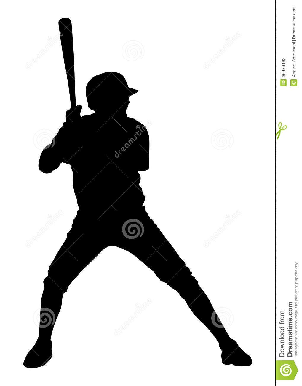 free clipart baseball player silhouette - photo #24