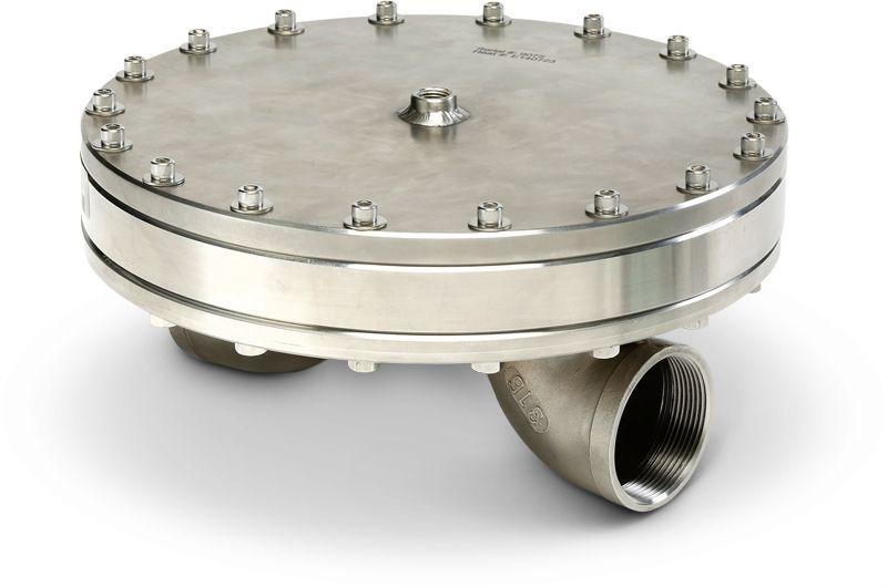 Industrial service back pressure regulator and valve for