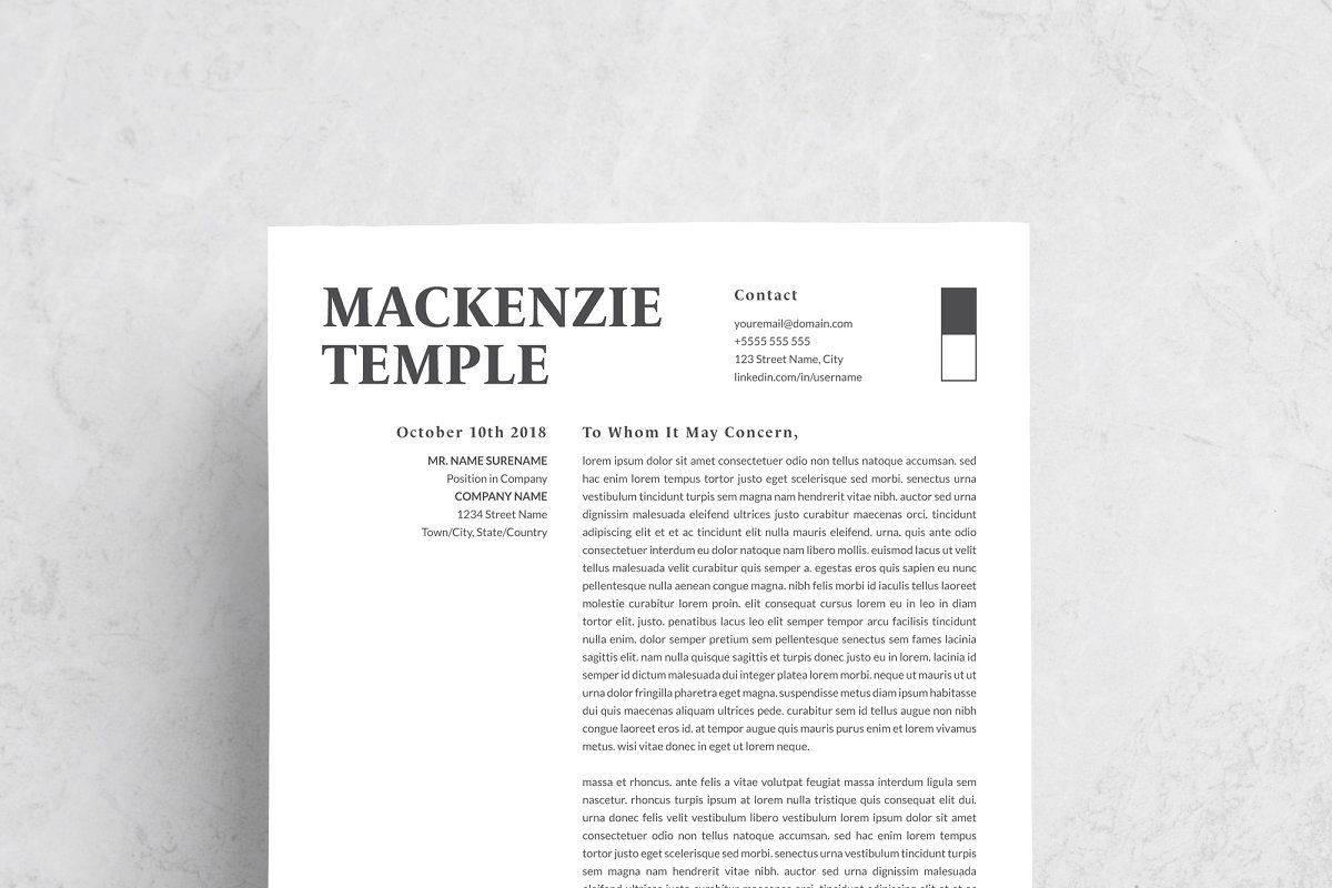 Professional Resume Template in 2020 Resume template