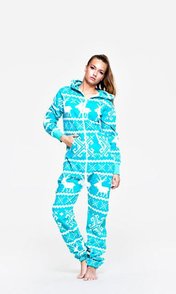 Matilda Fairisle Pom Pom Hooded Onesie | Winter time, Pjs and Cozy