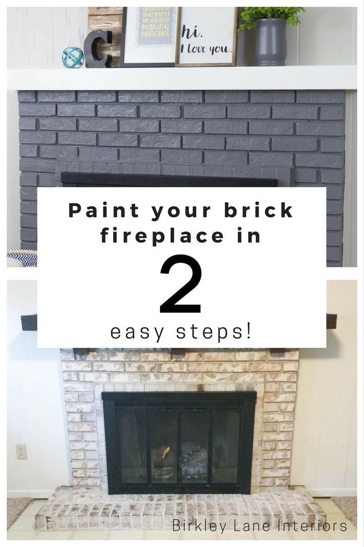 Paint your brick fireplace in easy steps brick fireplace bricks