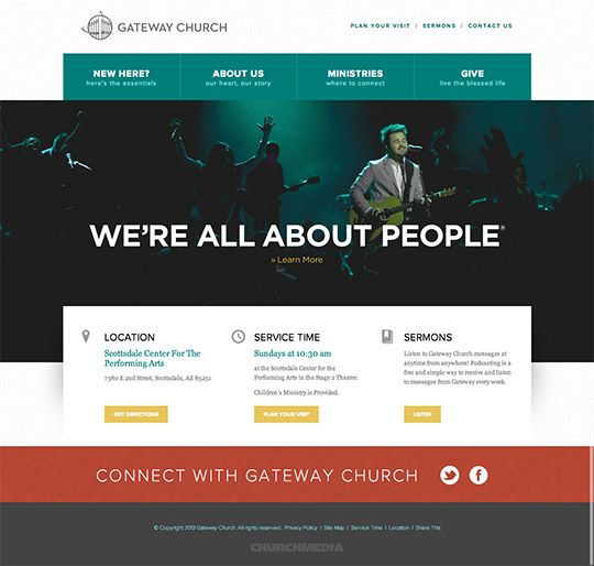40 great church websites