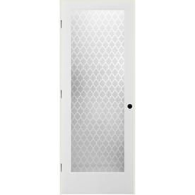 Reliabilt White 1 Panel Solid Core Frosted Glass Wood Pine Single Prehung Door Common 28 In X 80 In Actual 29 375 In X 81 3125 In Lowes Com Prehung Interior Doors Prehung Doors Door Design Interior