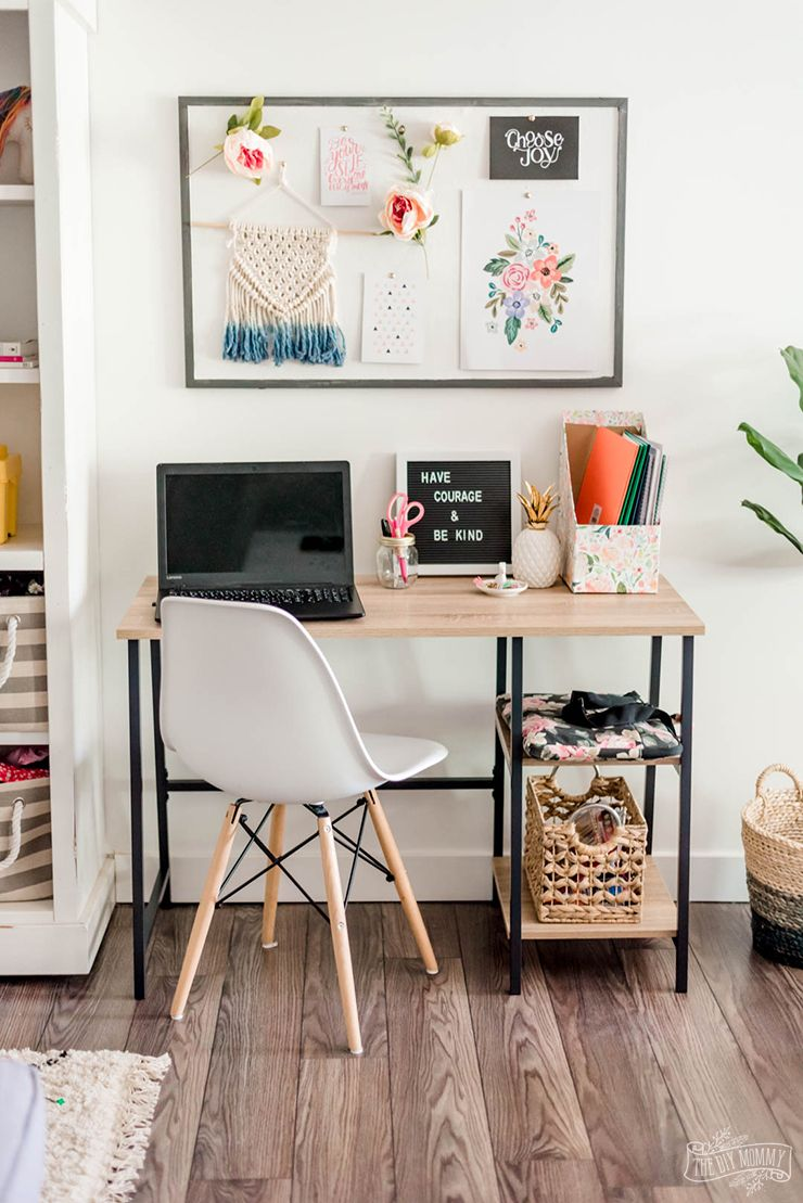 Budget Friendly Homework Station For Back To School The Diy Mommy Study Room Decor Homework Room Homeschool Room Design