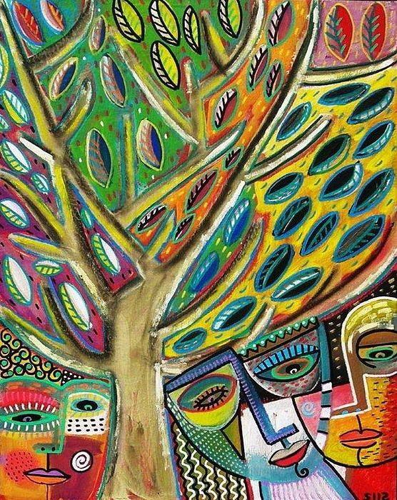 Sandra Silberzweig 8 X 10 Canvas Print Tree of Life Woman