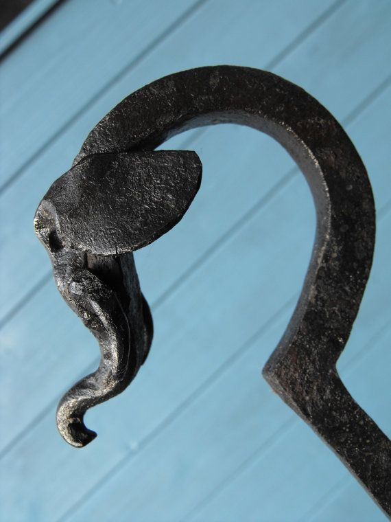 Elephant Head Fire Poker Blacksmith forged by SouthSaxonForge