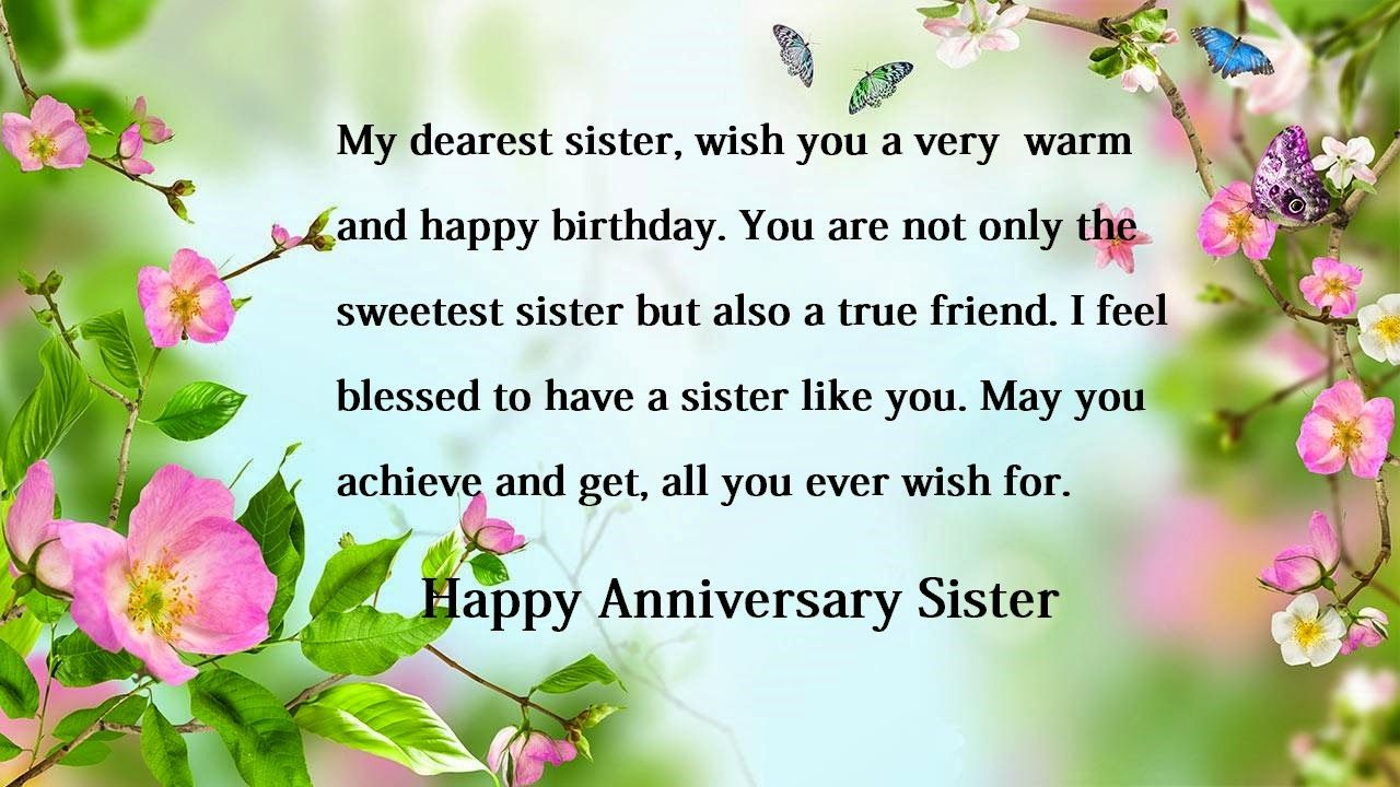 Anniversary Wishes Quotes Happy Anniversary Wishes For Sister  Sister Anniversary Wishes