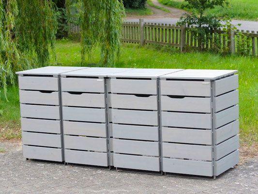 Mülltonnenbox Holz Holzweise Mülltonnenbox