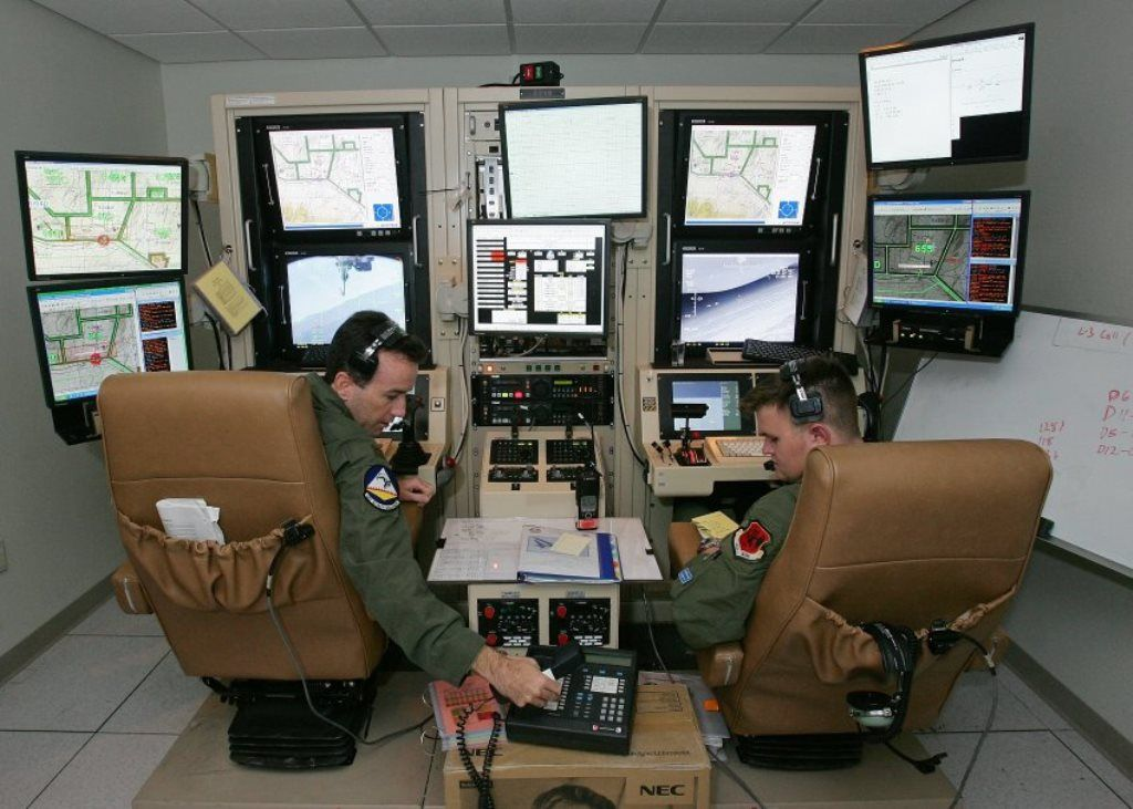 USAF A ground control station for a MQ-9 Reaper drone  From