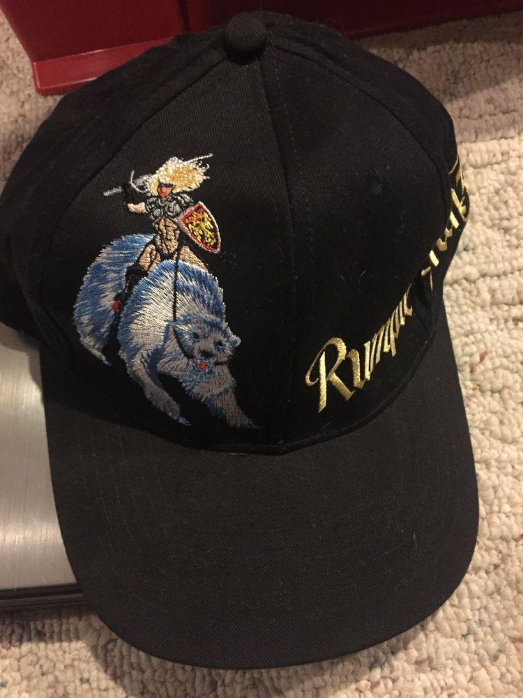 0707b8ca810 Vintage Rumple-Minze Baseball Cap Hat Girl on Polar Bear - Adjustable OSFM   fashion  clothing  shoes  accessories  unisexclothingshoesaccs ...