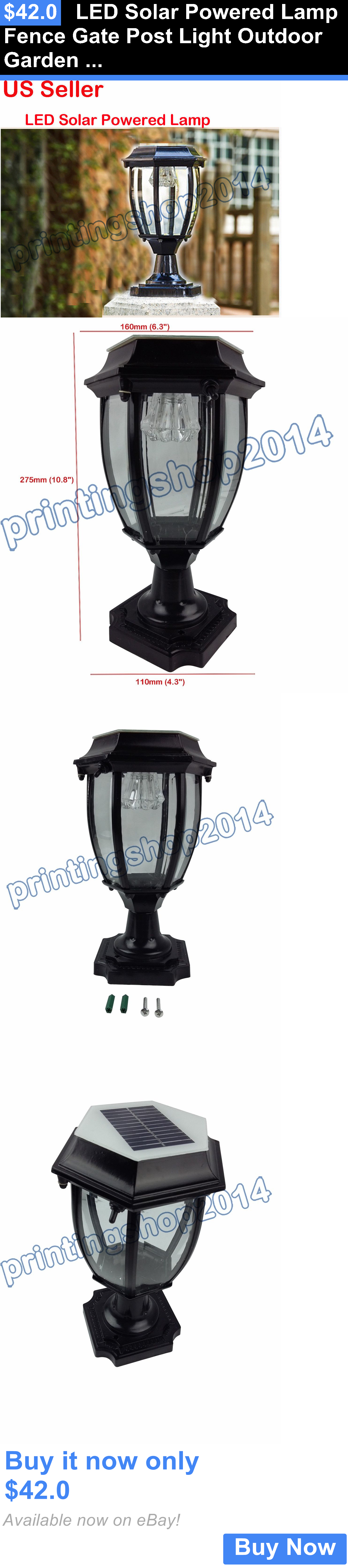 farm and garden Led Solar Powered Lamp Fence Gate Post