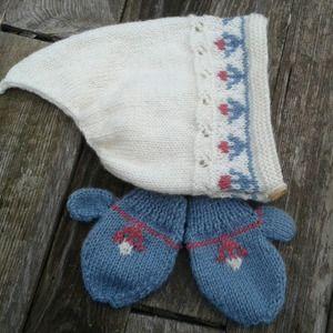 Bonnet lutin unisexe bébé 9-12 mois tricoté main - ensemble unisexe bonnet  lutin blanc c1a73598744