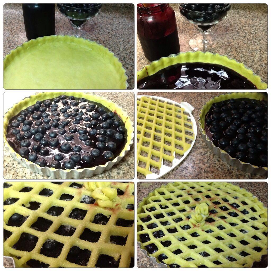 Crostata de geléia de uva e mirtilos frescos :: Pimenta na cozinha