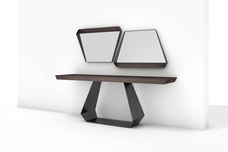 Holz Konsolentisch, Konsolen, Holzplatten, Möbel Ideen, Design Interieur,  Schaukasten, Möbel, Tische, Innere