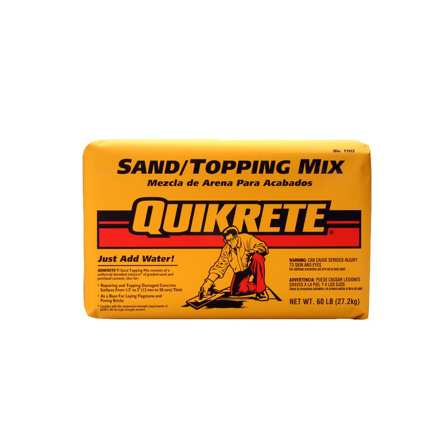 Quikrete Sand Topping 60 Lb High Strength Concrete Mix At Lowes Com High Strength Concrete Concrete Concrete Pavers