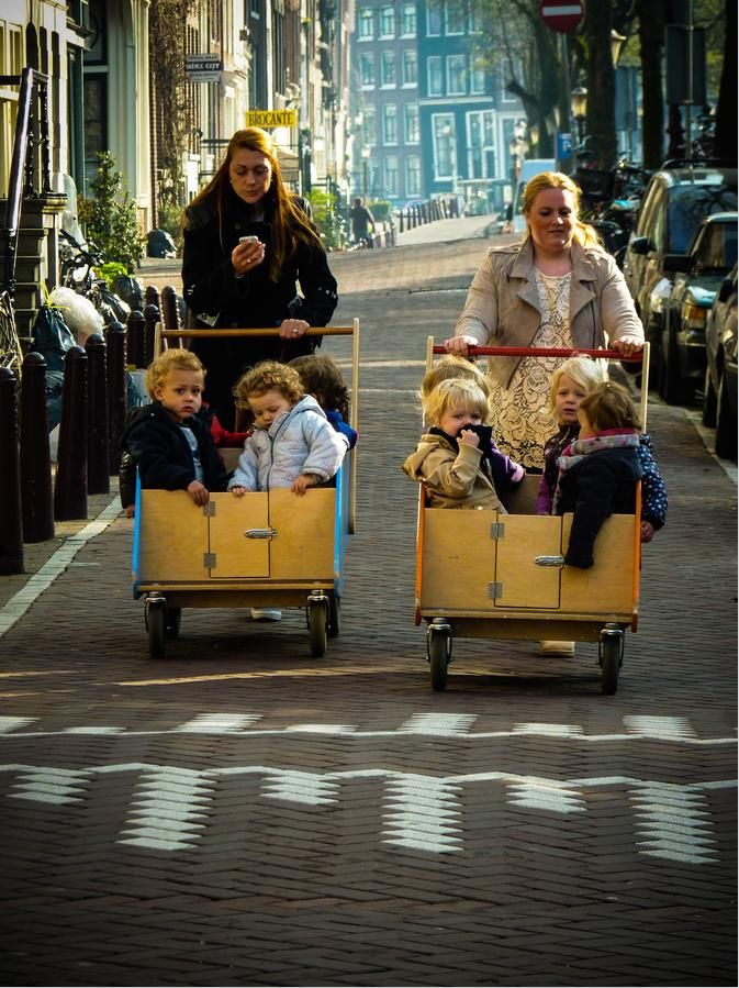 Amsterdam. How we transport our kiddies. even then we have the hand free for a whats app....