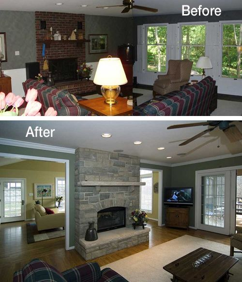 Ranch house remodel on pinterest ranch style house for Remodeling ideas for ranch style homes