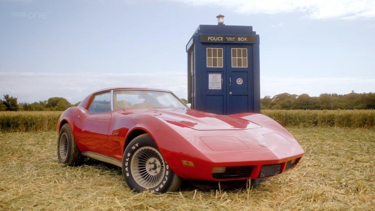 Doctor Who S Tardis And Mels Corvette Corvette Corvette Stingray Chevrolet Corvette Stingray