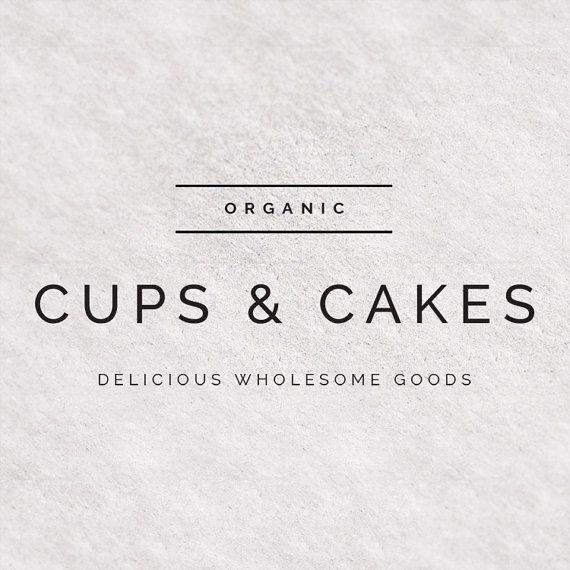 Premade Logo Design - Modern Font - Clean Simple Typography - Food ...