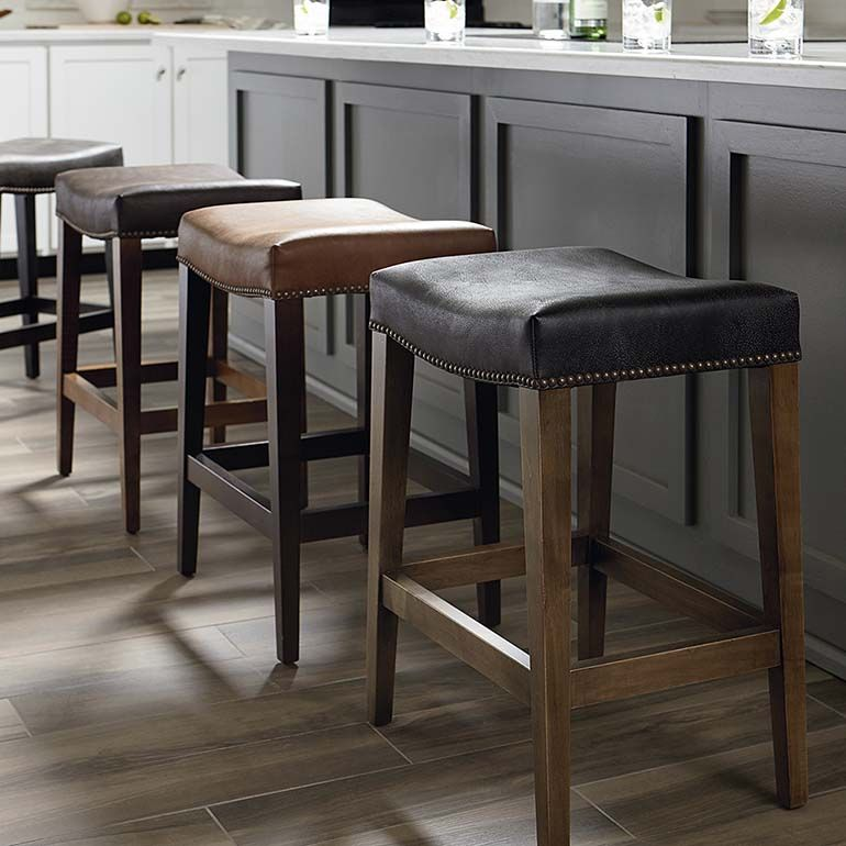 Bench Made Maple Counter Saddle Stool Rustic Bar Stools Stool Backless Bar Stools