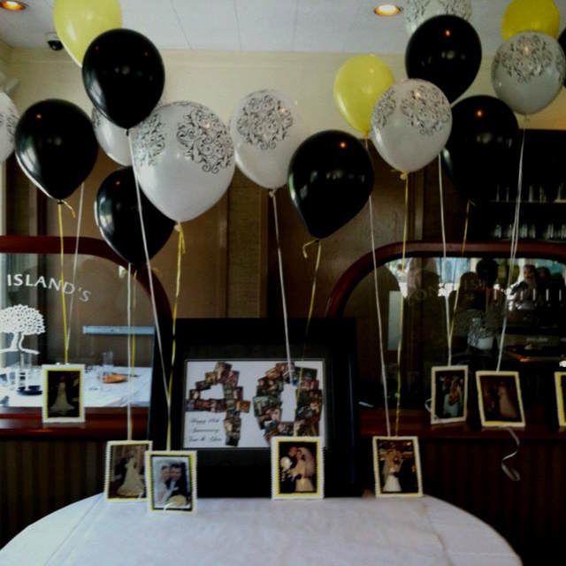 Decoraci n con globos para aniversario de bodas fotos colgadas 70 birthday papa pinterest - Decoracion con fotos ...
