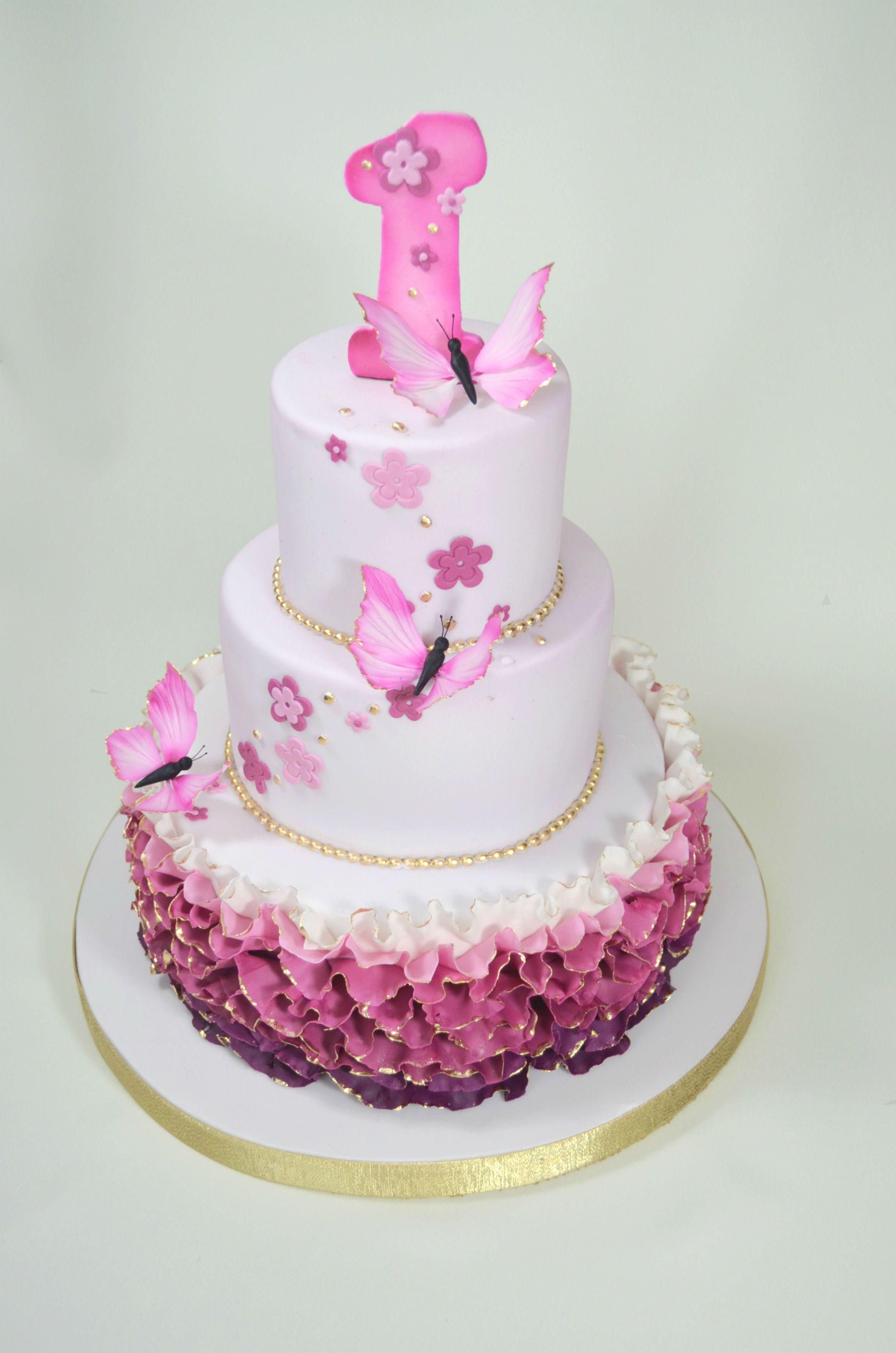 Fabulous 25Jpg With Images Butterfly Birthday Cakes First Birthday Cakes Birthday Cards Printable Benkemecafe Filternl