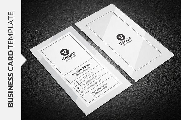 Clean monochrome business card by verazo on creativemarket clean monochrome business card by verazo on creativemarket reheart Images