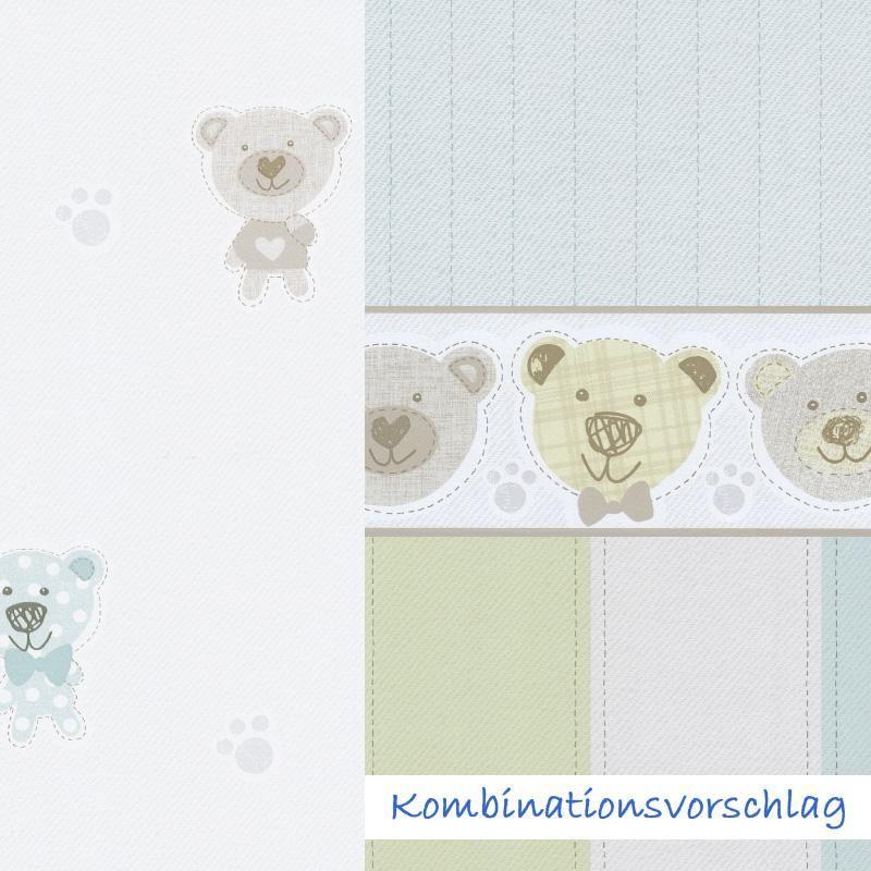 Fancy S e Tapete mit B rchen und Streifen von P S International ideal f r die Gestaltung eines
