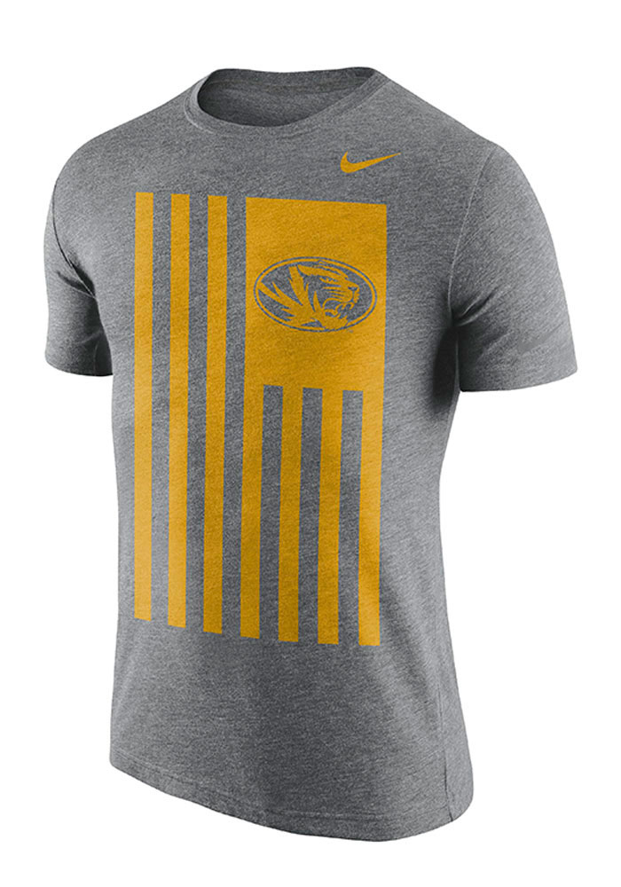 4a693ac7 Nike Missouri Tigers Grey Nation Short Sleeve Fashion T Shirt, Grey, 50  POLY/25 COT/25 RA, Size 2XL