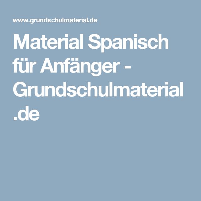 Material Spanisch für Anfänger - Grundschulmaterial.de | Kind ...