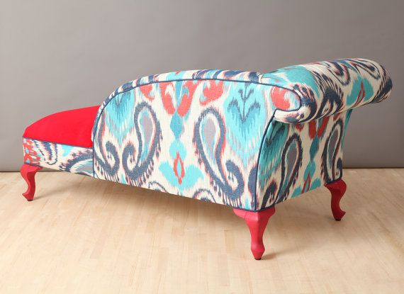 Hollywood regency royal blue silver chaise lounge chesterfield