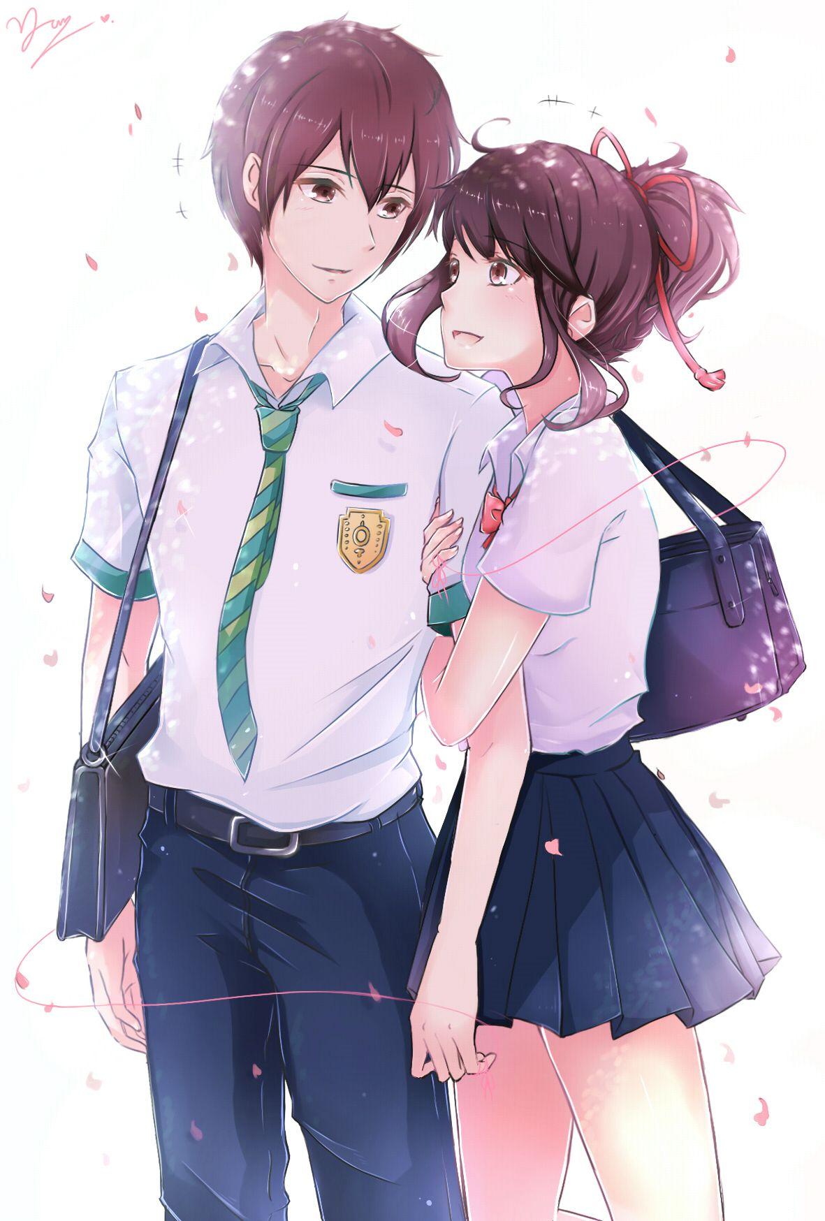 """Miyamizu Mitsuha"" ""Tachibana Taki"" Romantis"