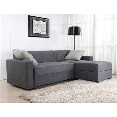 The versatile modern Sutton Convertible Sectional Sofa seats two