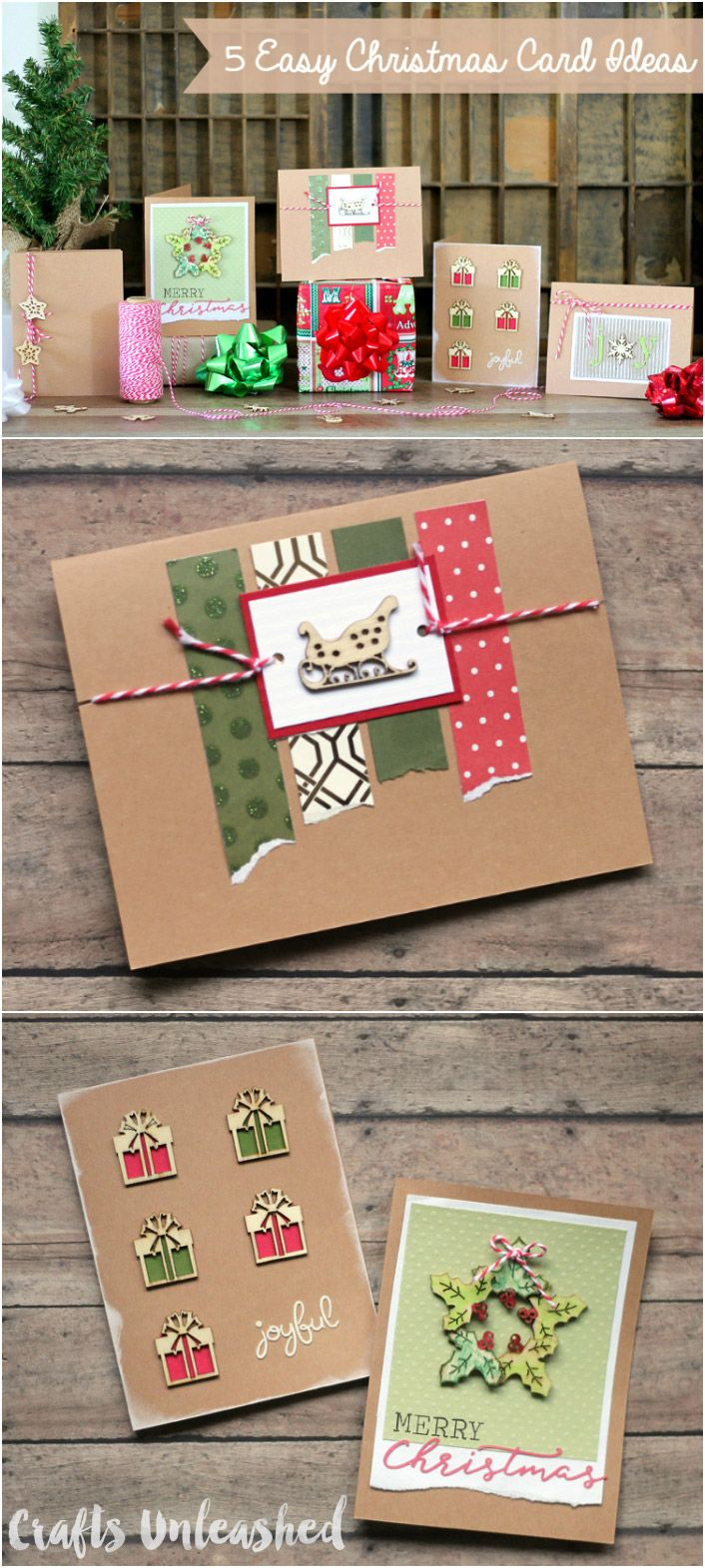 Easy christmas cards designs set of supplies consumer crafts