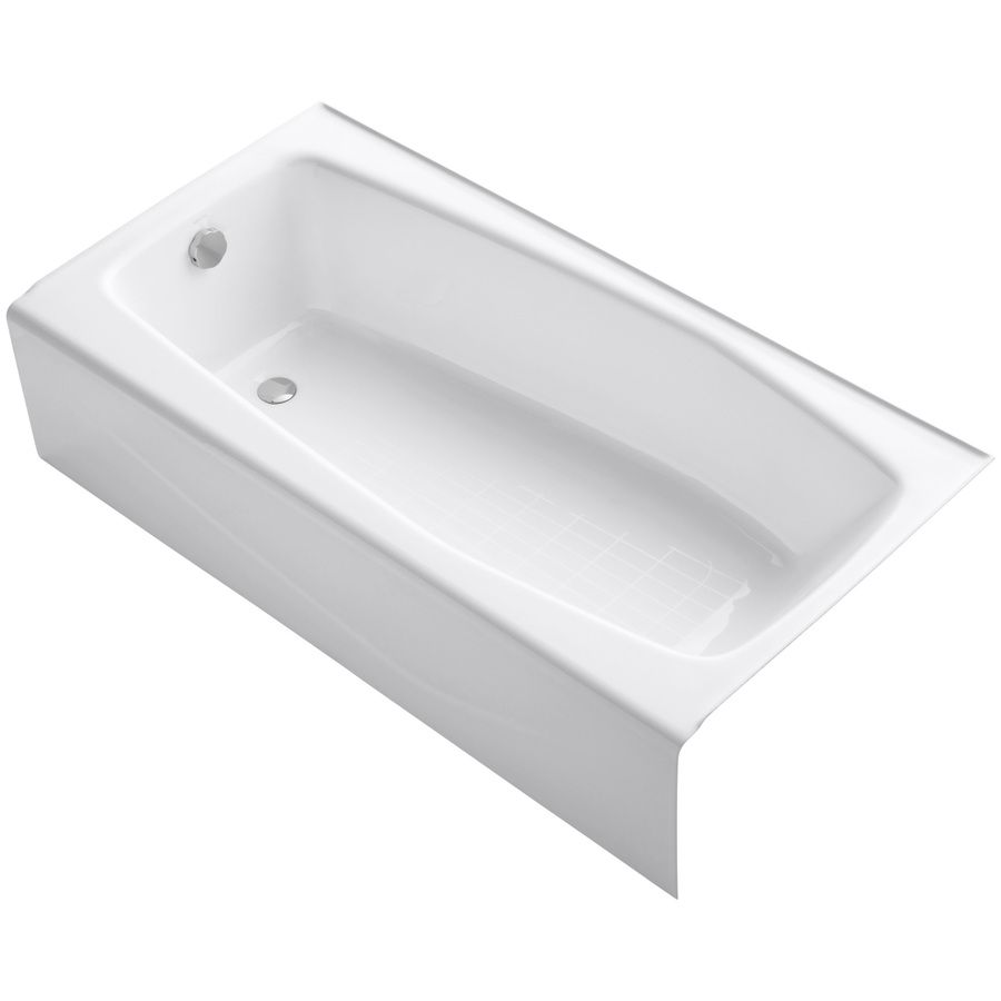 KOHLER Villager Cast Iron Rectangular Skirted Bathtub with Left-Hand ...