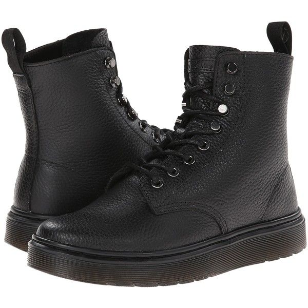 Dr. Martens Disc 8-Tie Boot (Black Montreal Lux) Women's Lace-