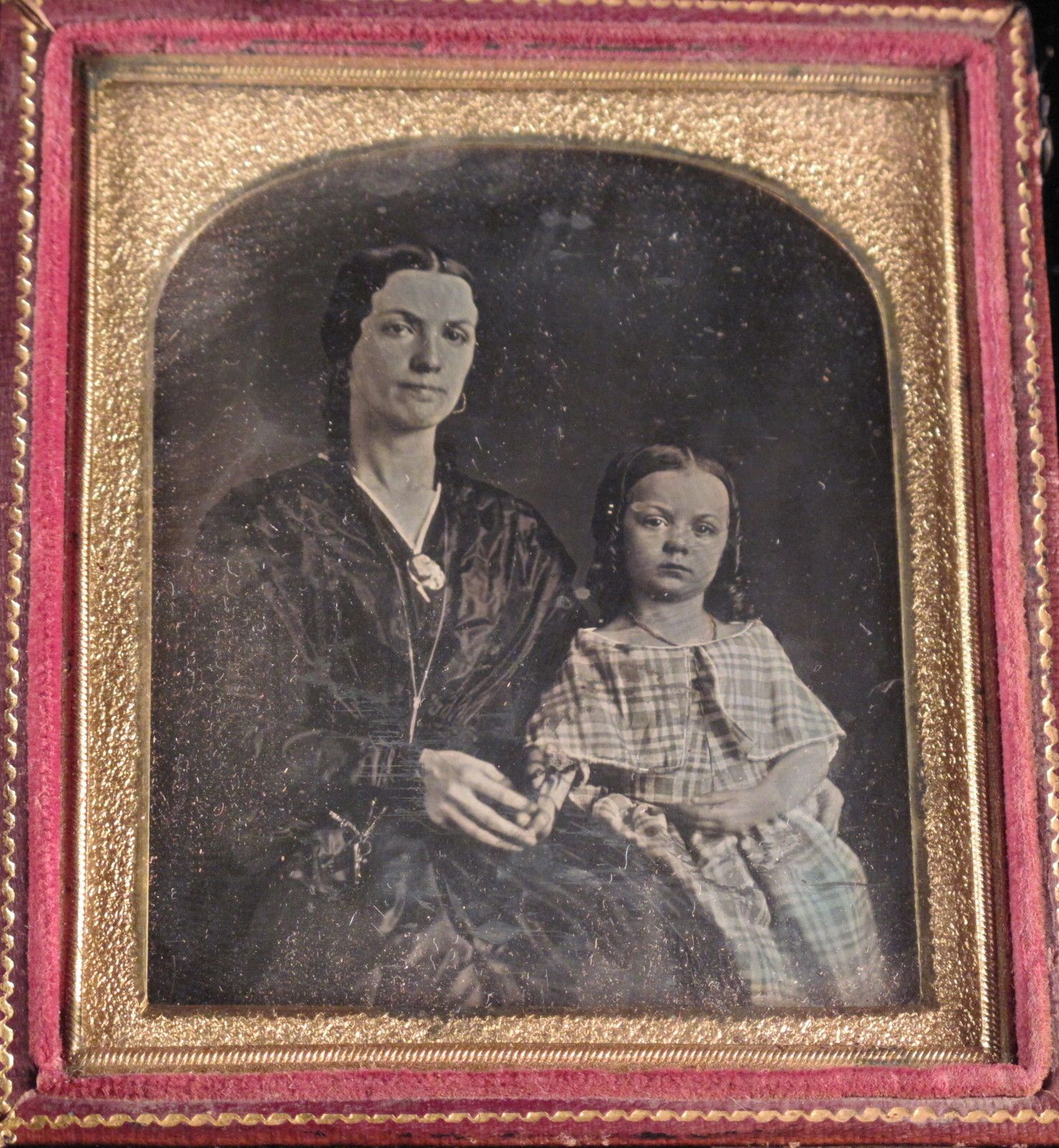1 6 Plate Daguerreotype Mother with Beautiful Leaning Daughter | eBay