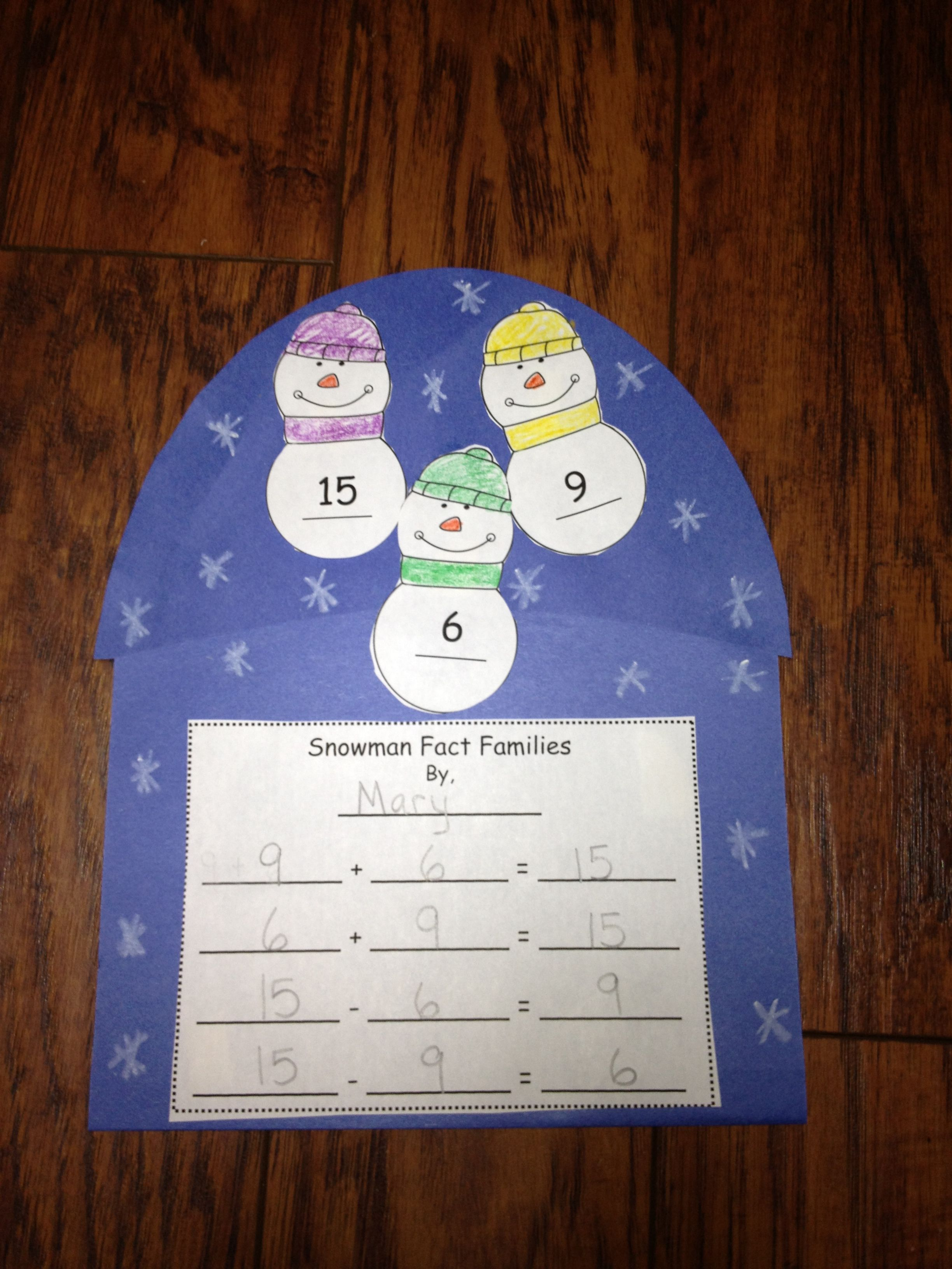 Snowman Math Stories Word Problems Unit Ccss Operations