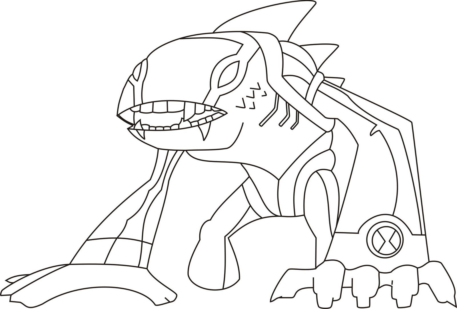 Cute Ben 10 Coloring Pages For Kids