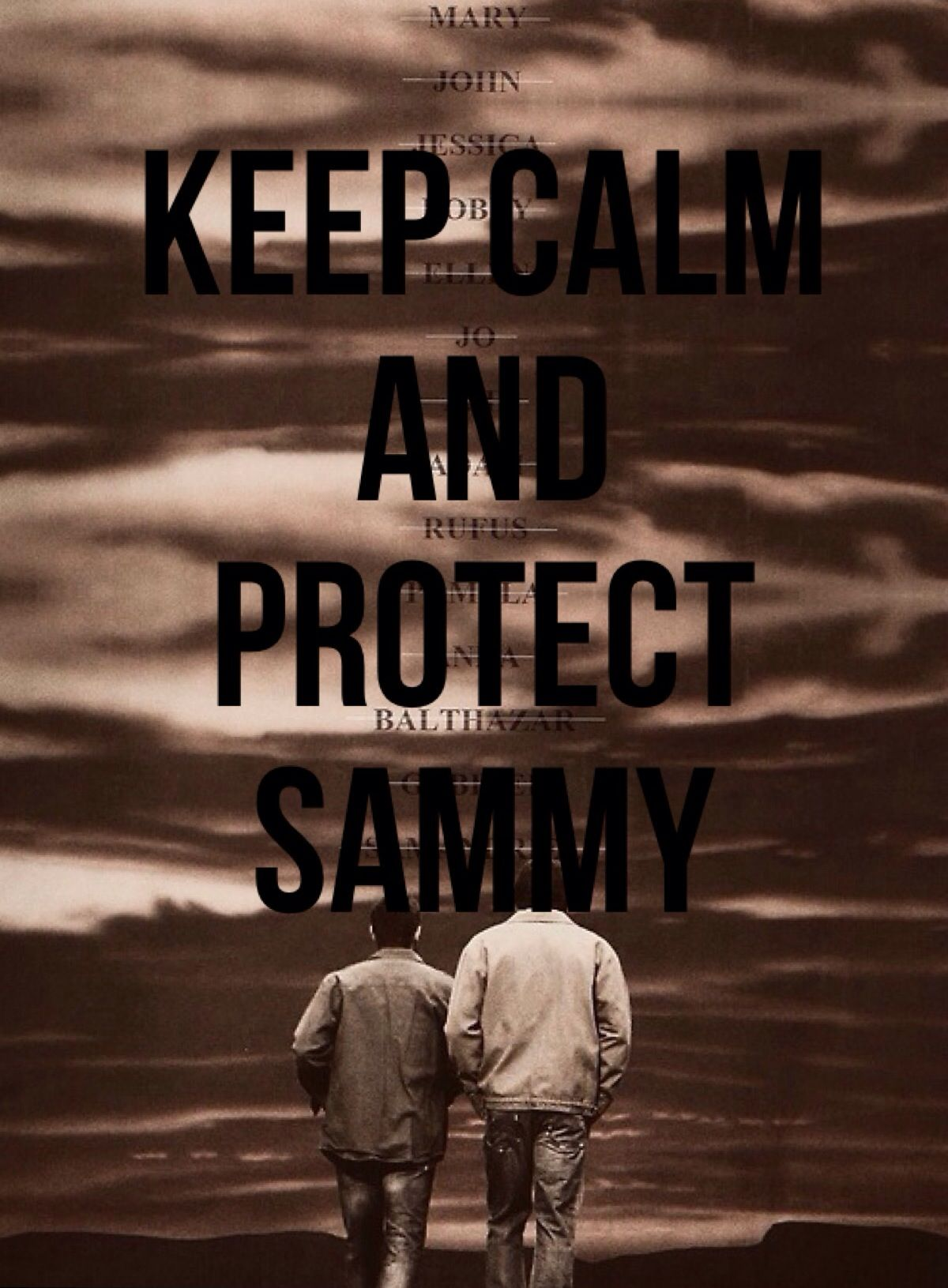 My creation! Not the picture but the keep calm part.