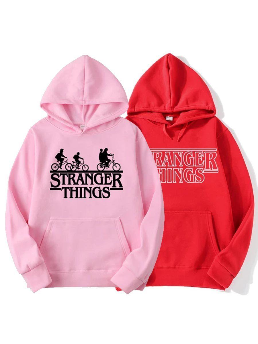 2 PcsSet Top Seller Stranger Things Series Long Sleeve