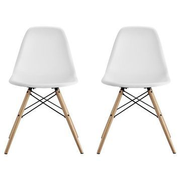 Best Mid Century Modern Molded Chair With Wood Leg Set Of 2 640 x 480